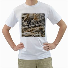 Rock Texture Background Stone Men s T Shirt (white) (two Sided)
