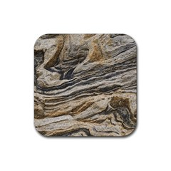 Rock Texture Background Stone Rubber Square Coaster (4 Pack)