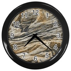 Rock Texture Background Stone Wall Clocks (black)