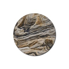 Rock Texture Background Stone Rubber Round Coaster (4 Pack)
