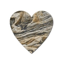 Rock Texture Background Stone Heart Magnet
