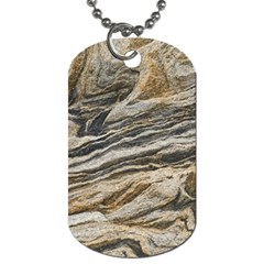Rock Texture Background Stone Dog Tag (one Side)