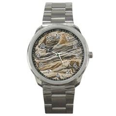 Rock Texture Background Stone Sport Metal Watch