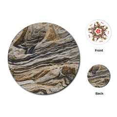 Rock Texture Background Stone Playing Cards (round)