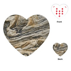 Rock Texture Background Stone Playing Cards (heart)