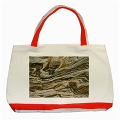 Rock Texture Background Stone Classic Tote Bag (red)