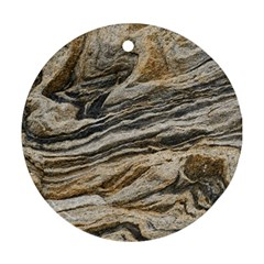 Rock Texture Background Stone Round Ornament (Two Sides)