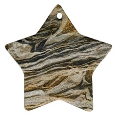 Rock Texture Background Stone Star Ornament (two Sides)