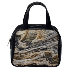 Rock Texture Background Stone Classic Handbags (one Side)