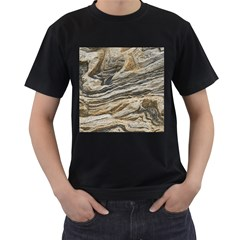 Rock Texture Background Stone Men s T-Shirt (Black)