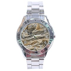 Rock Texture Background Stone Stainless Steel Analogue Watch