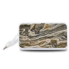 Rock Texture Background Stone Portable Speaker (white)