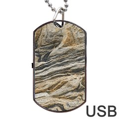 Rock Texture Background Stone Dog Tag Usb Flash (one Side)