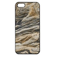 Rock Texture Background Stone Apple iPhone 5 Seamless Case (Black)