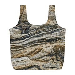 Rock Texture Background Stone Full Print Recycle Bags (l)