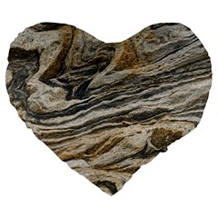 Rock Texture Background Stone Large 19  Premium Flano Heart Shape Cushions