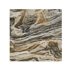 Rock Texture Background Stone Small Satin Scarf (square)