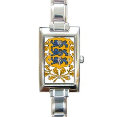 Coat of Arms of Estonia Rectangle Italian Charm Watch