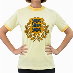 Coat of Arms of Estonia Women s Fitted Ringer T-Shirts