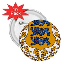 Coat of Arms of Estonia 2.25  Buttons (10 pack)