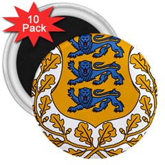 Coat of Arms of Estonia 3  Magnets (10 pack)