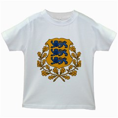 Coat of Arms of Estonia Kids White T-Shirts