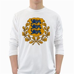 Coat of Arms of Estonia White Long Sleeve T-Shirts