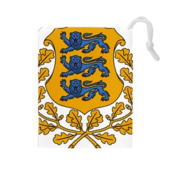 Coat of Arms of Estonia Drawstring Pouches (Large)