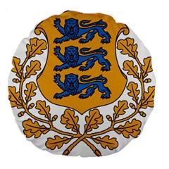 Coat of Arms of Estonia Large 18  Premium Flano Round Cushions