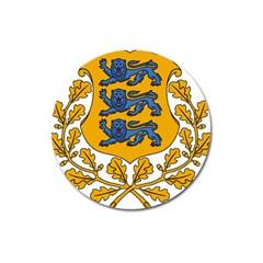 Coat of Arms of Estonia Magnet 3  (Round)