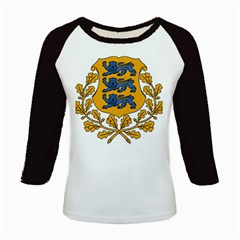 Coat of Arms of Estonia Kids Baseball Jerseys