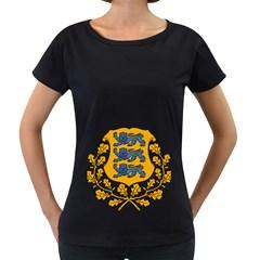 Coat of Arms of Estonia Women s Loose-Fit T-Shirt (Black)