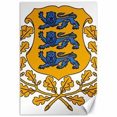 Coat of Arms of Estonia Canvas 12  x 18