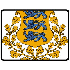 Coat of Arms of Estonia Fleece Blanket (Large)
