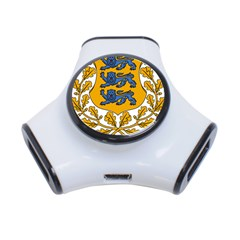 Coat of Arms of Estonia 3-Port USB Hub
