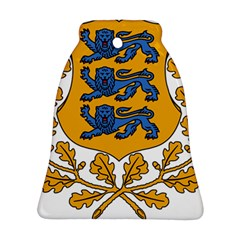 Coat of Arms of Estonia Bell Ornament (Two Sides)