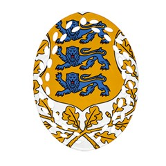 Coat of Arms of Estonia Oval Filigree Ornament (Two Sides)