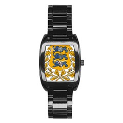 Coat of Arms of Estonia Stainless Steel Barrel Watch