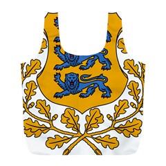 Coat of Arms of Estonia Full Print Recycle Bags (L)