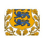 Coat of Arms of Estonia Double Sided Flano Blanket (Mini)  35 x27 Blanket Front