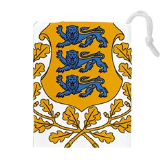 Coat of Arms of Estonia Drawstring Pouches (Extra Large)