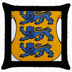 Lesser Arms of Estonia  Throw Pillow Case (Black)