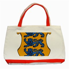 Lesser Arms of Estonia  Classic Tote Bag (Red)