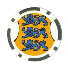 Lesser Arms of Estonia  Poker Chip Card Guard