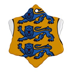 Lesser Arms of Estonia  Snowflake Ornament (Two Sides)