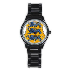 Lesser Arms of Estonia  Stainless Steel Round Watch