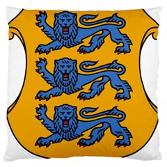 Lesser Arms of Estonia  Large Flano Cushion Case (One Side)
