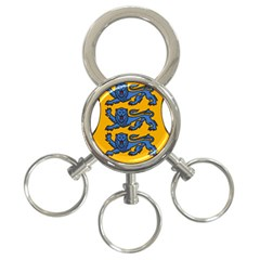 Lesser Arms of Estonia 3-Ring Key Chains