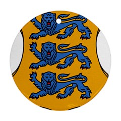 Lesser Arms of Estonia Round Ornament (Two Sides)