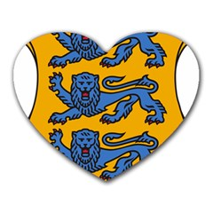 Lesser Arms of Estonia Heart Mousepads